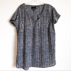 Cynthia Rowley Patterned Pocket Blouse